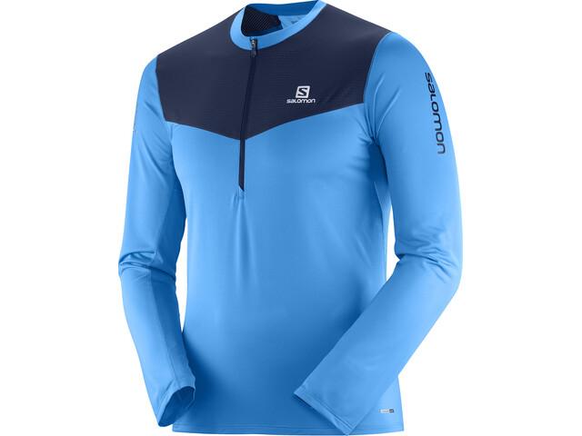 Salomon Fast Wing - T-shirt manches longues running Homme - bleu/noir
